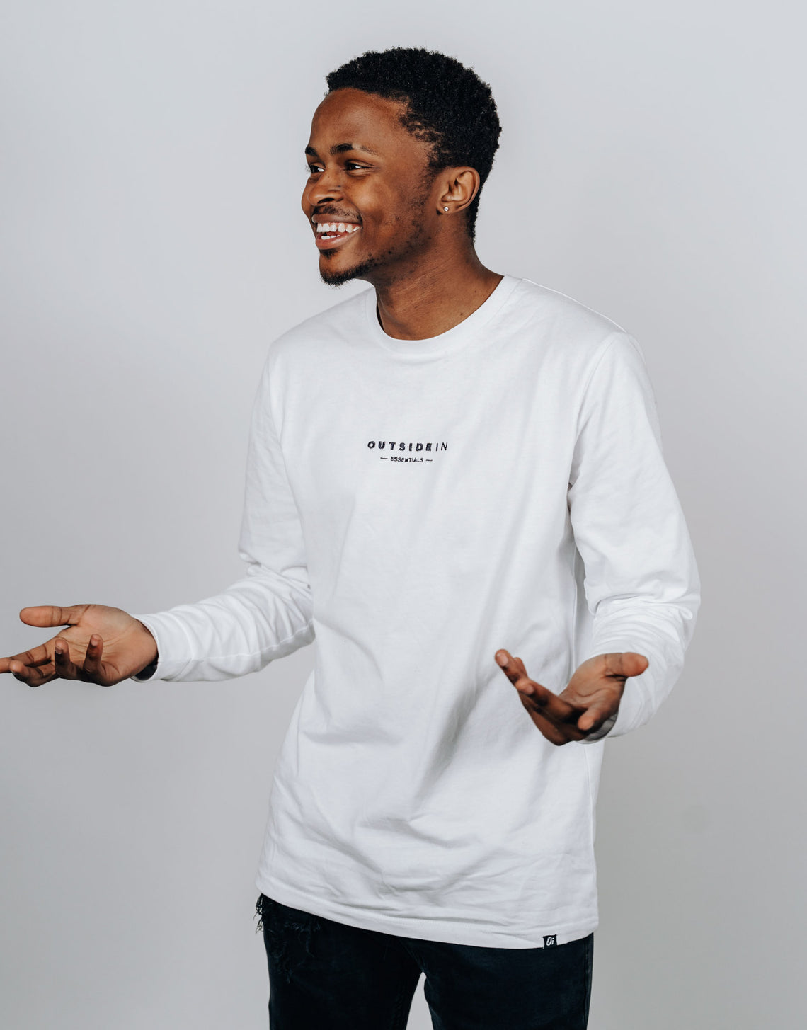 White Essential Long Sleeve T-Shirt