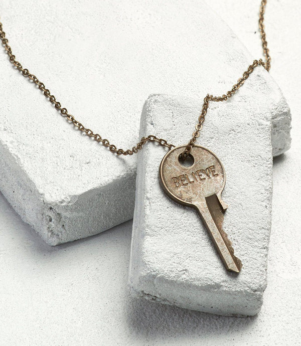 Classic Brass Key Necklace