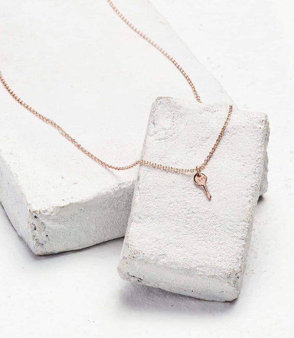Mini Key Rose Gold Necklace