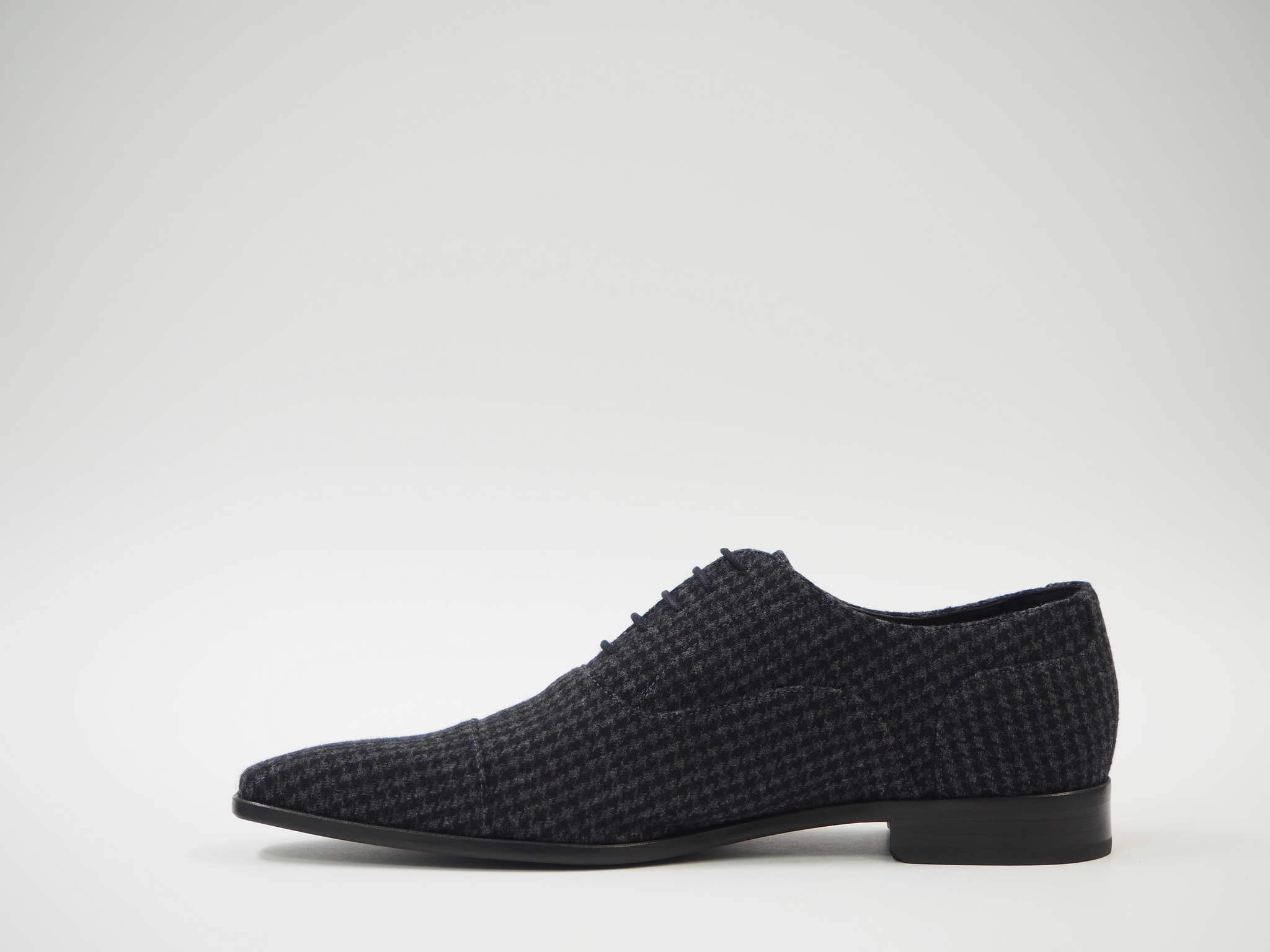 Size 45 - Gray & Black Pied de Poule Oxford + Belt