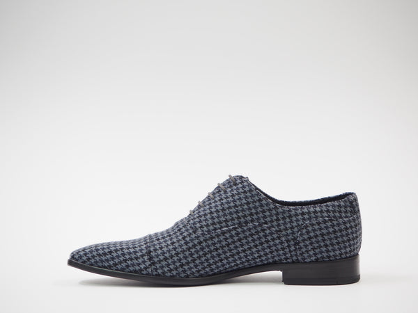 Size 43 - Light Blue & Black Pied de Poule Oxford + Belt