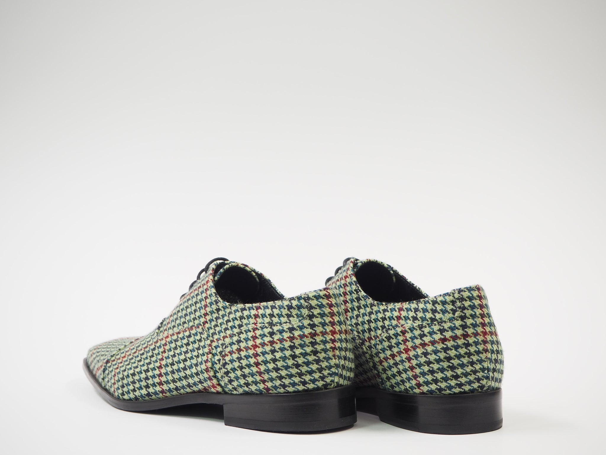 Size 43 - Red & Green Pied de Poule Oxford + Belt