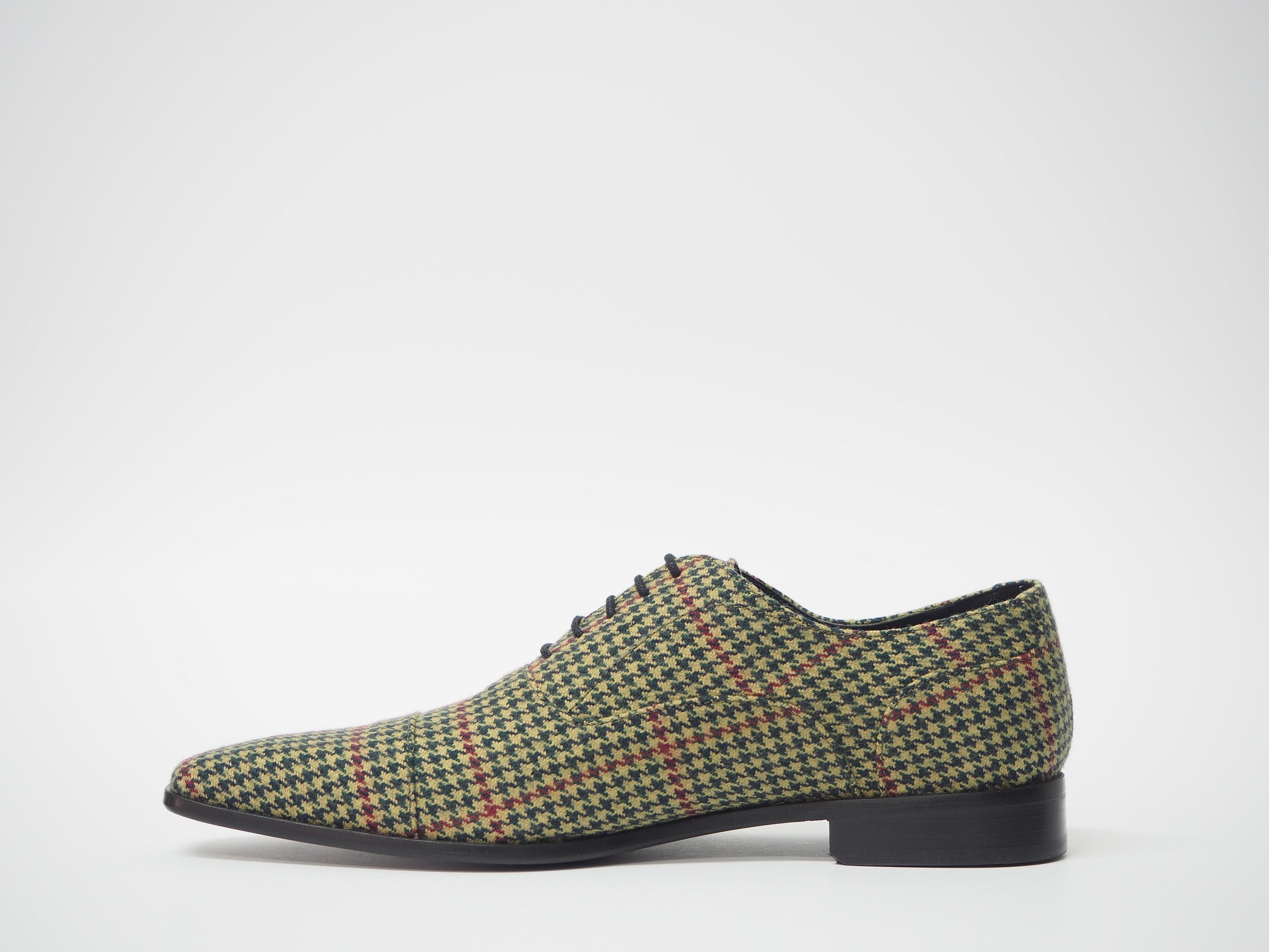 Size 45 - Green & Red Pied de Poule Oxford + Belt