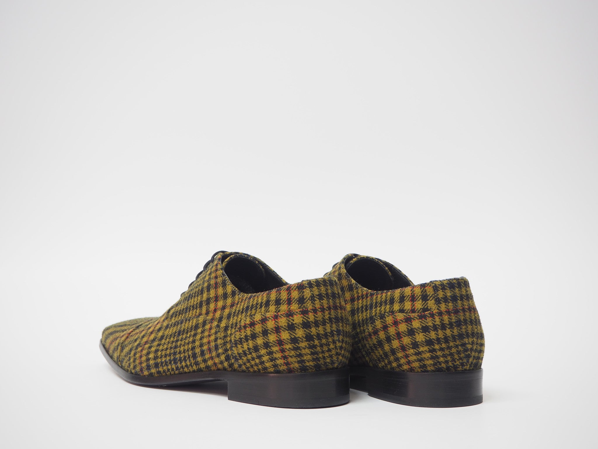 Size 45 - Black & Mustard Tartan Oxford + Belt