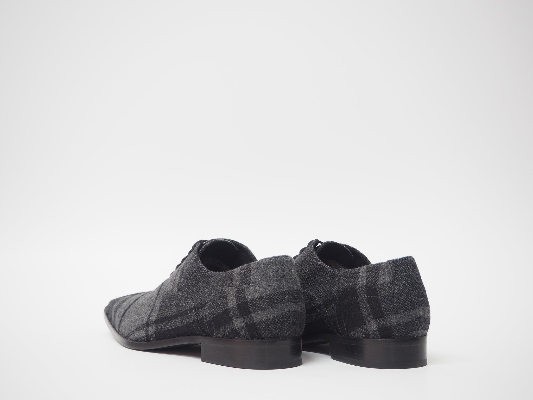 Size 43 - Gray & Black Tartan Oxford