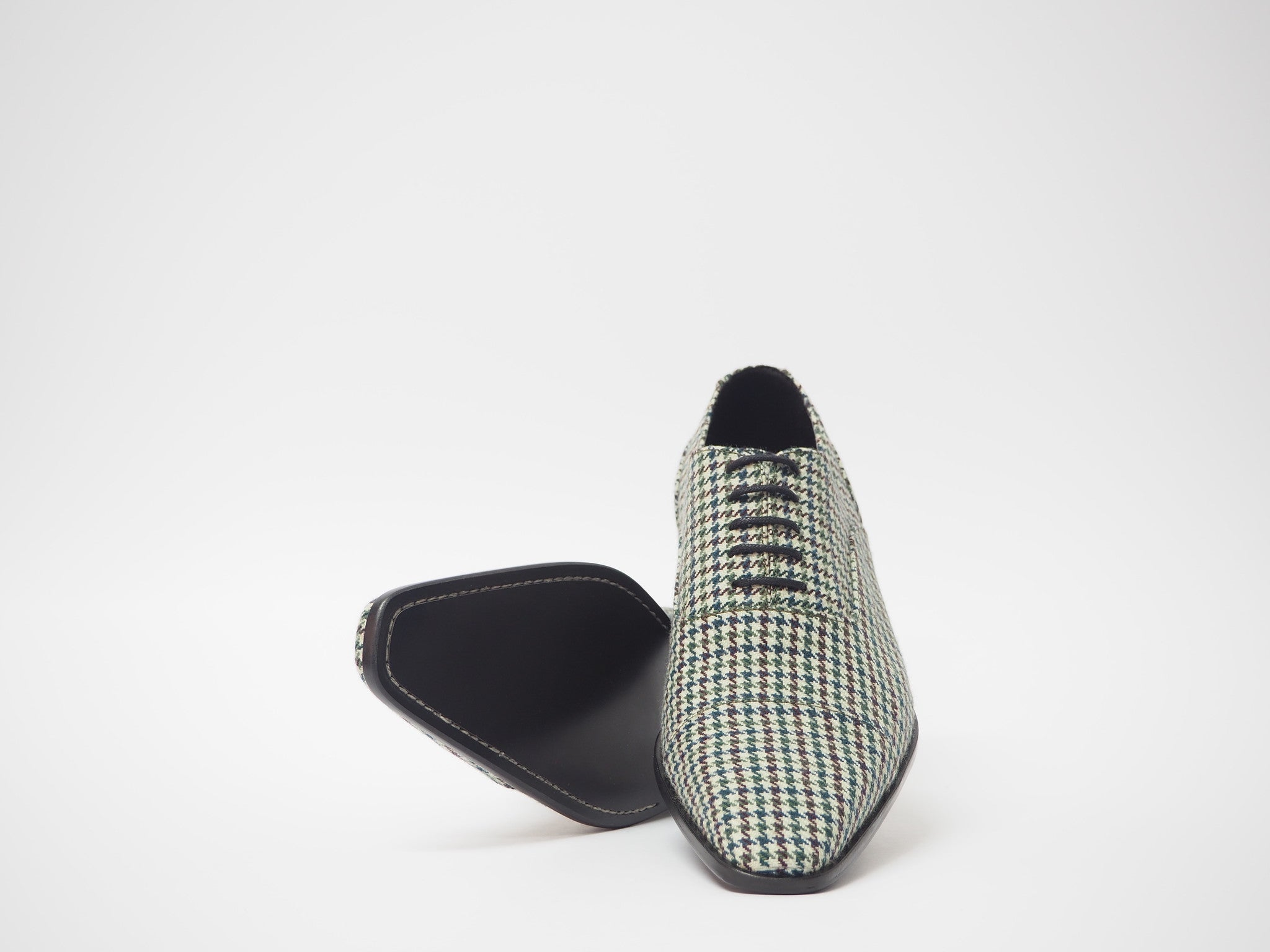 Size 43 - Multicolor Pied de Poule Oxford + Belt