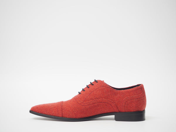Size 43 - Red Herringbone Oxford + Belt