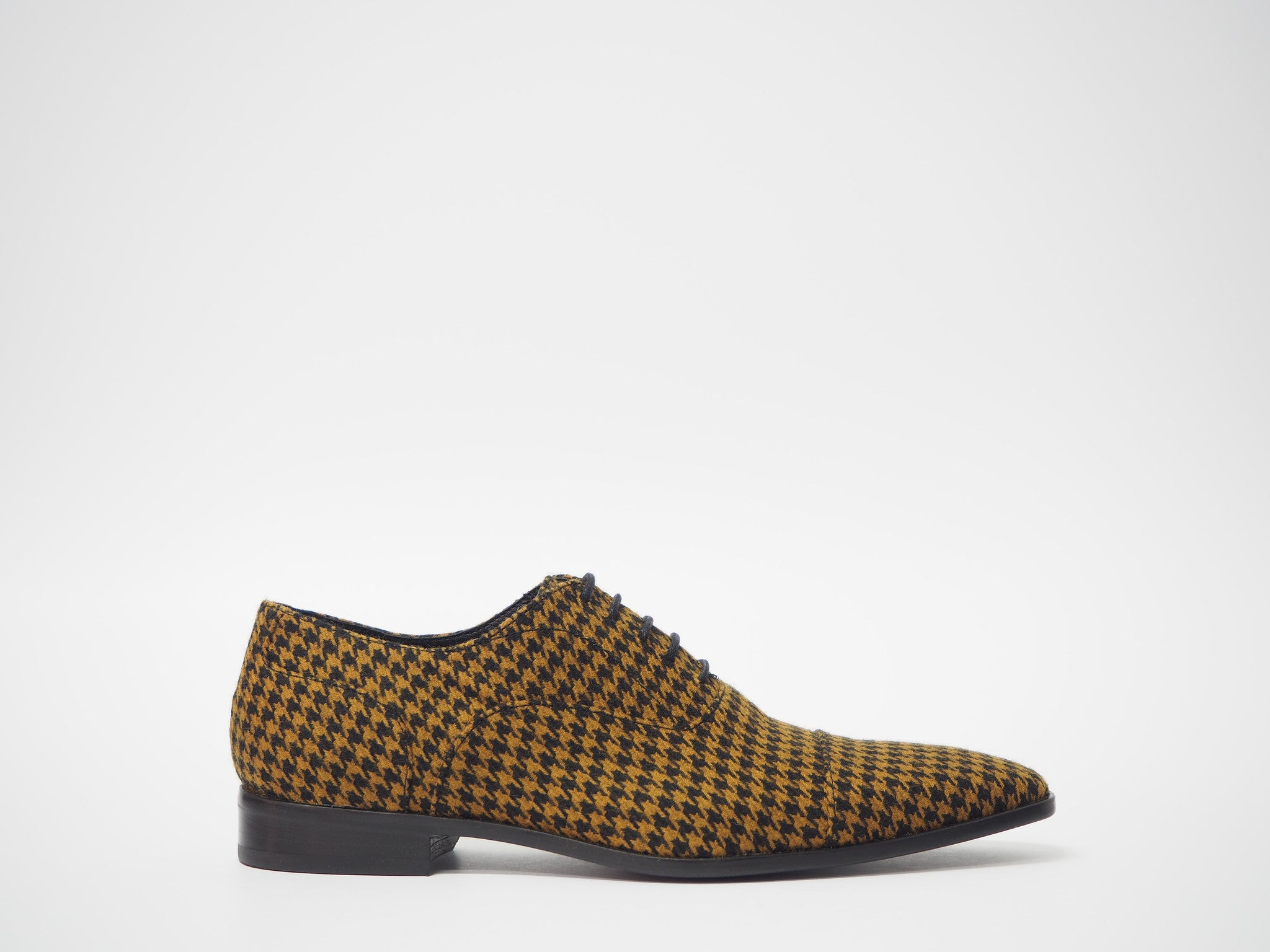 Size 41 - Black & Mustard Pied de Poule Oxford + Belt