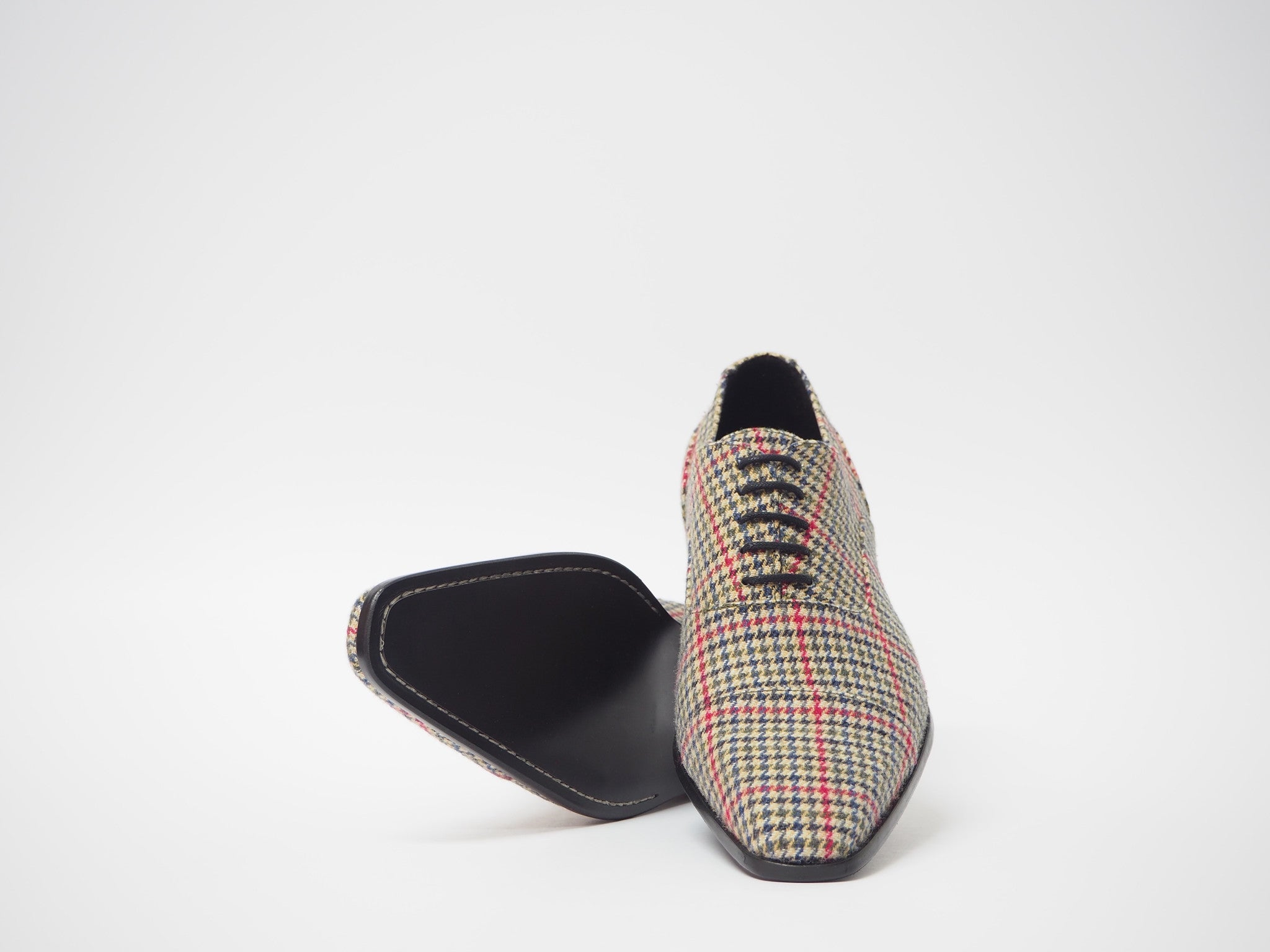 Size 41- Multicolor Pied de Poule Oxford + Belt