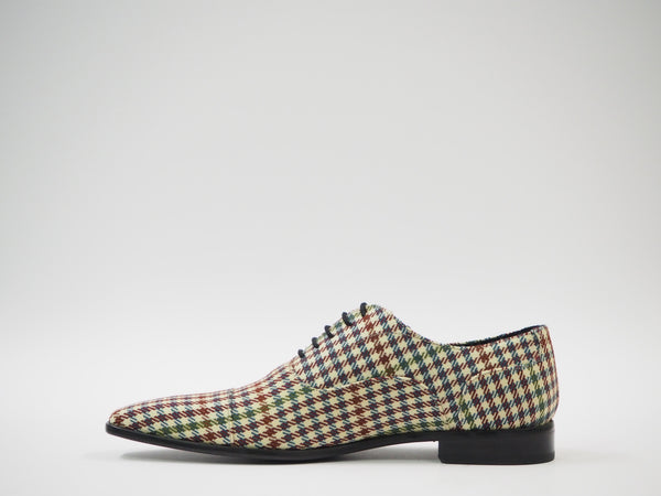 Size 44 - Multicolor Houndstooth Oxford + Belt