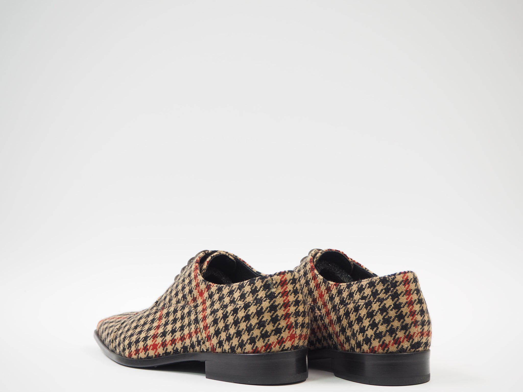 Size 41 - Multicolor Tweed Oxford + Belt