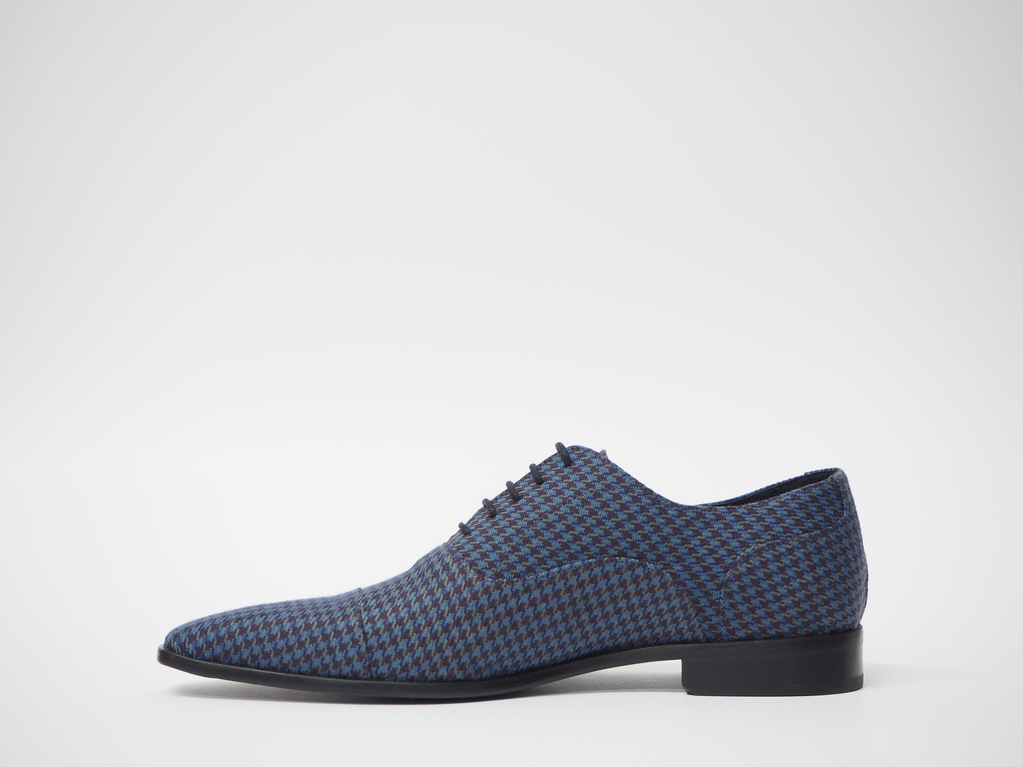 Size 44 - Blue-Violet Pied de Poule Oxford + Belt