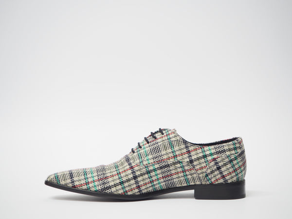 Size 44 - Multicolor Tartan Oxford + Belt