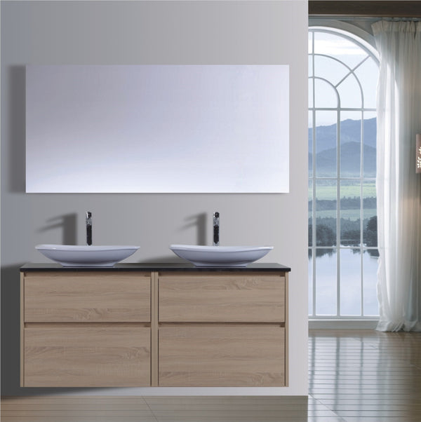 Caliber Series VMF1500DW OAK Wall Hung,Vanities,1500mm,thebathroomoutlet