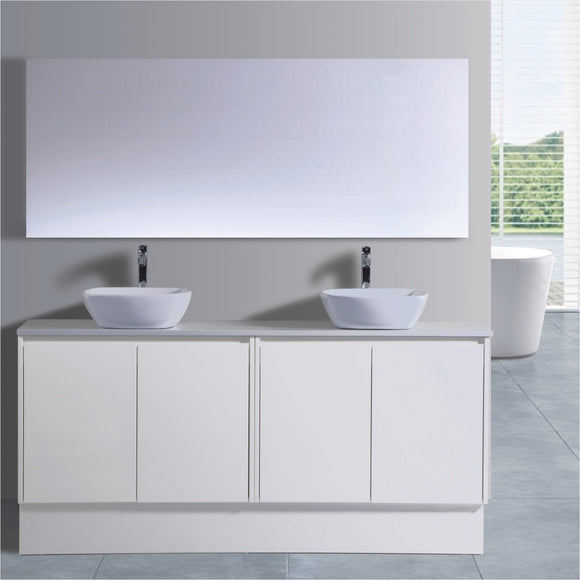 Caliber Series VMF1500DR WHT Free Standing,Vanities,1500mm,thebathroomoutlet