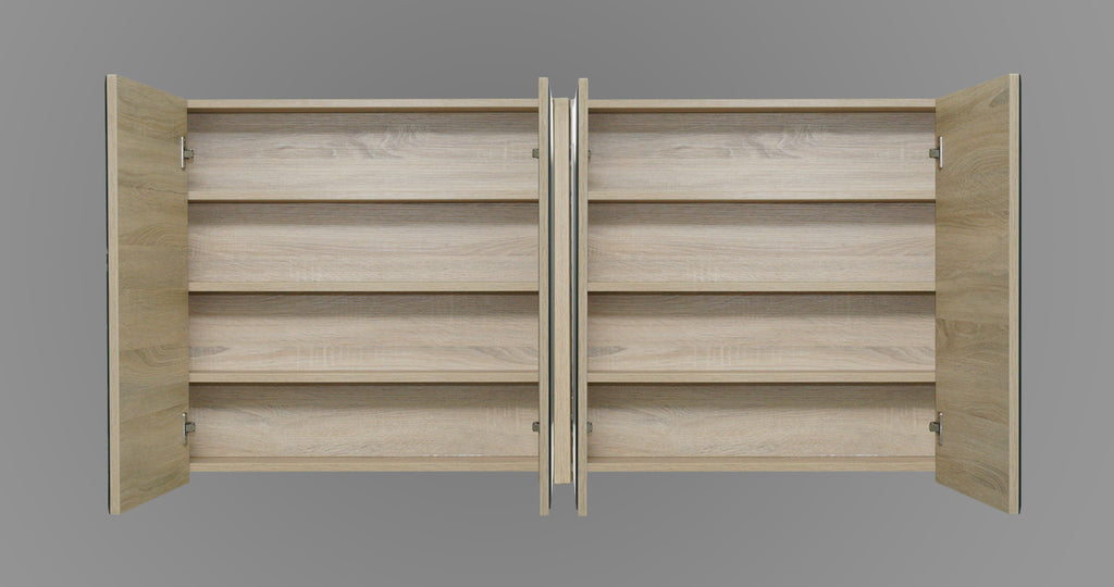 1500mm Mirror Cabinet Oak MC1500OAK,Mirrors,Mirror Cabinets,thebathroomoutlet