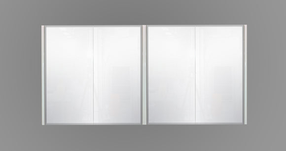 1500mm Mirror Cabinet White MC1500WHT,Mirrors,Mirror Cabinets,thebathroomoutlet