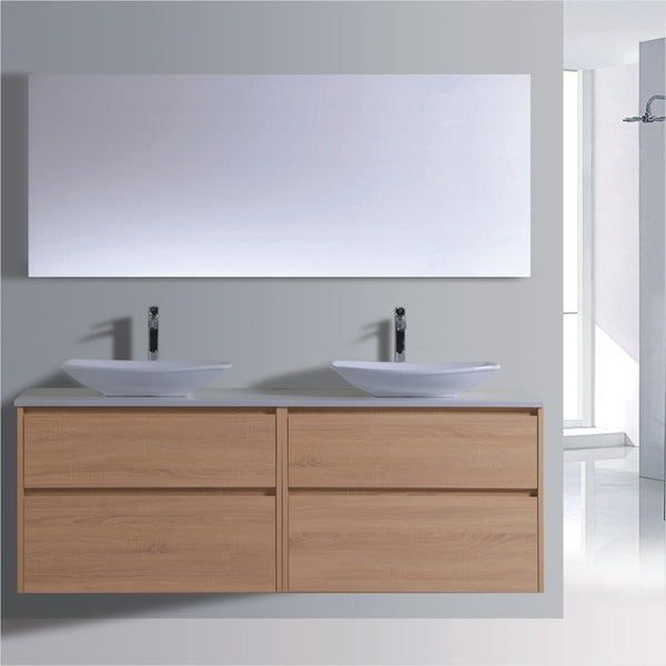 Caliber Series VMF1800DW OAK Wall Hung,Vanities,1800mm,thebathroomoutlet