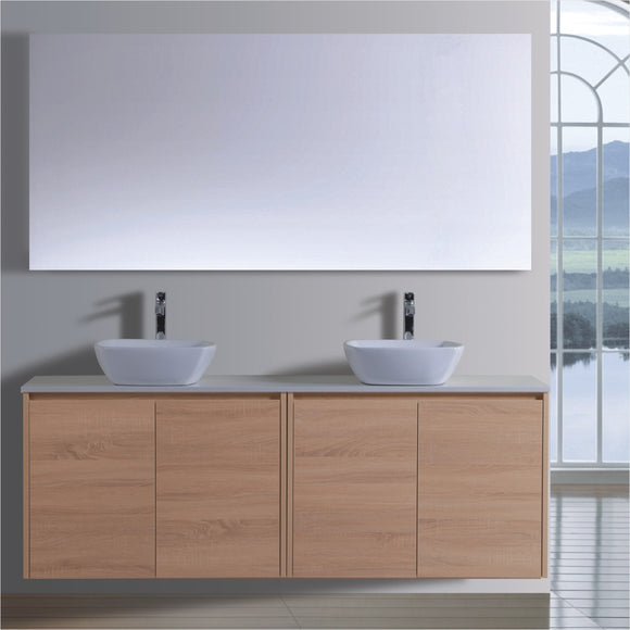 Caliber Series VMF1800DR OAK Wall Hung,Vanities,1800mm,thebathroomoutlet