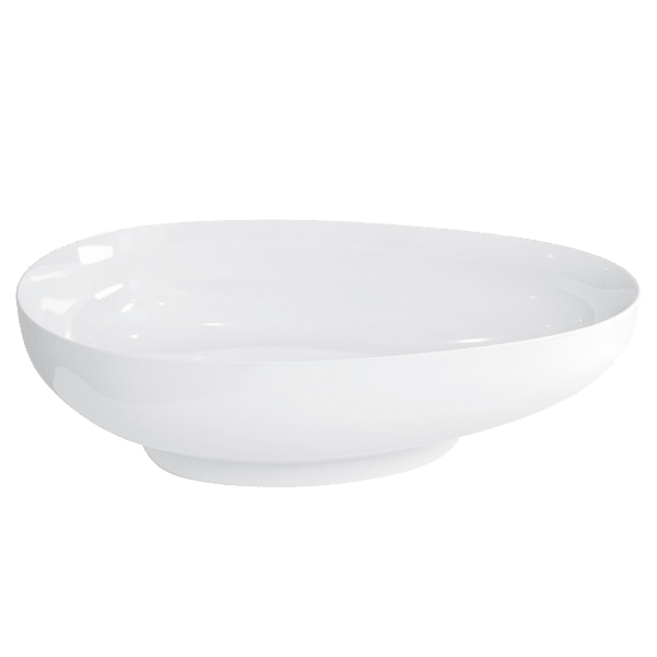 TEAR DROP CLEARSTONE BASIN WITH CHROME WASTE