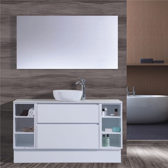 Caliber Series VMF1500DWS WHT Free Standing,Vanities,1500mm,thebathroomoutlet