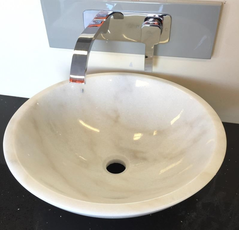 Above Counter Granite Basin Pearl White GB420PW,Basins,Stone Basins,thebathroomoutlet