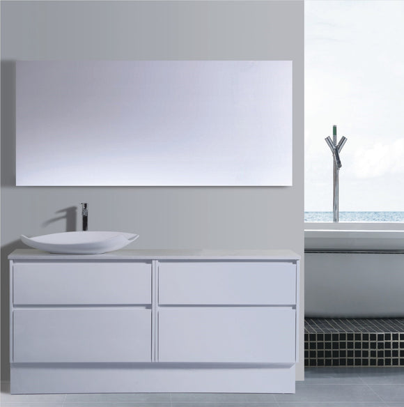 Caliber Series VMF1800DW WHT Free Standing,Vanities,1800mm,thebathroomoutlet