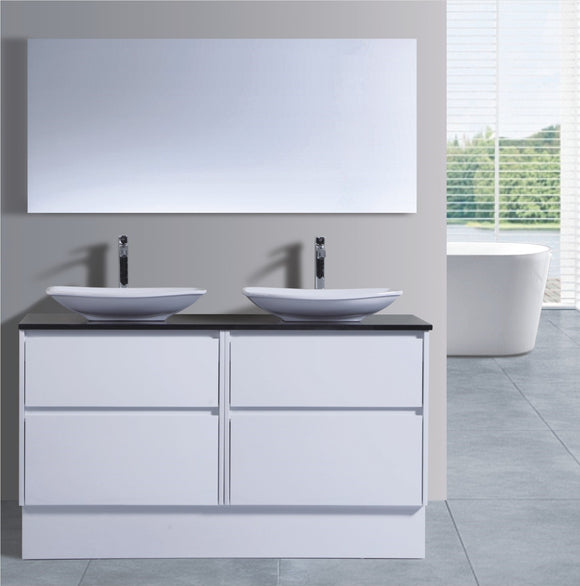 Caliber Series VMF1500DW WHT Free Standing,Vanities,1500mm,thebathroomoutlet