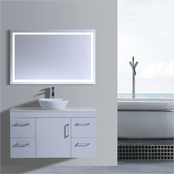Lush Series VGN1200 WHT Wall Hung,Vanities,1200mm,thebathroomoutlet