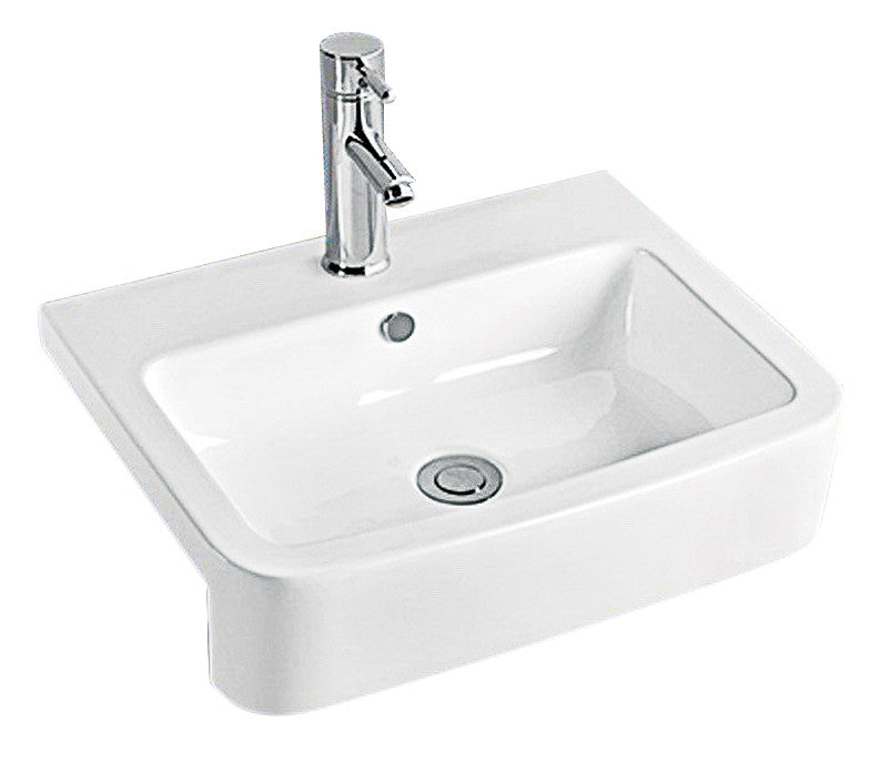 Semi Recessed Basin 241010W,Basins,Semi-Recessed Basin,thebathroomoutlet