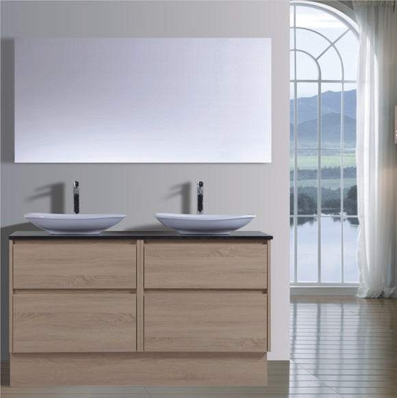 Caliber Series VMF1500DW OAK Free Standing,Vanities,1500mm,thebathroomoutlet
