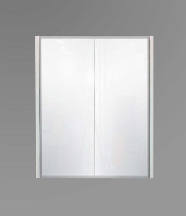 600mm Mirror Cabinet White MC600WHT,Mirrors,Mirror Cabinets,thebathroomoutlet