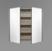 750mm Mirror Cabinet Wenge MC750WGE,Mirrors,Mirror Cabinets,thebathroomoutlet