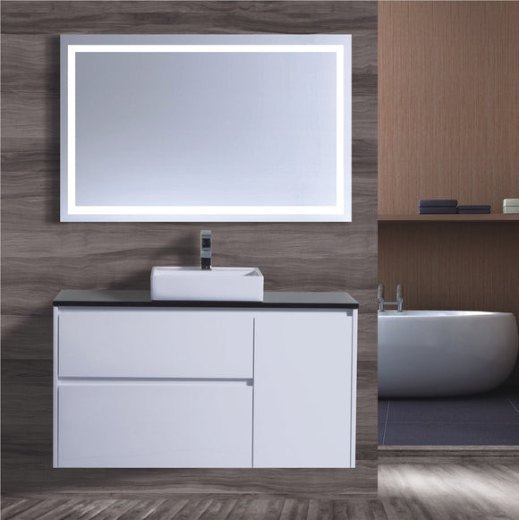 Caliber Series VMF1200DR WHT Wall Hung,Vanities,1200mm,thebathroomoutlet