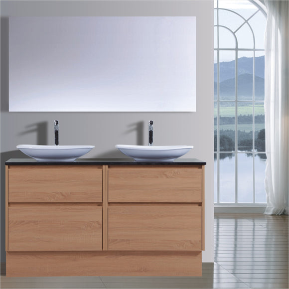 Caliber Series VMF1800DW OAK Free Standing,Vanities,1800mm,thebathroomoutlet