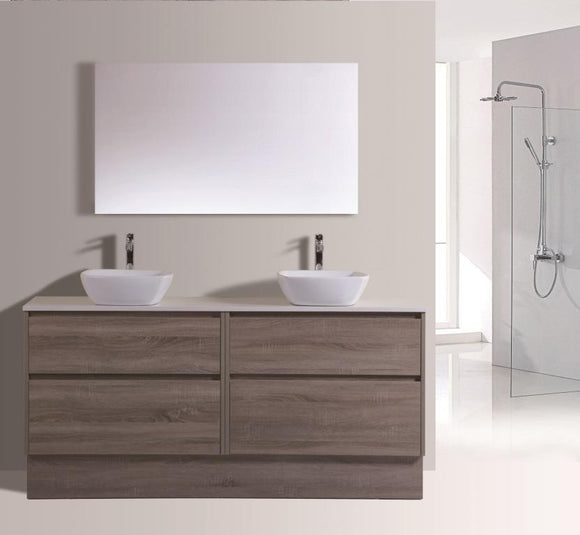 Caliber Series VMF1800DW WGE Free Standing,Vanities,1800mm,thebathroomoutlet