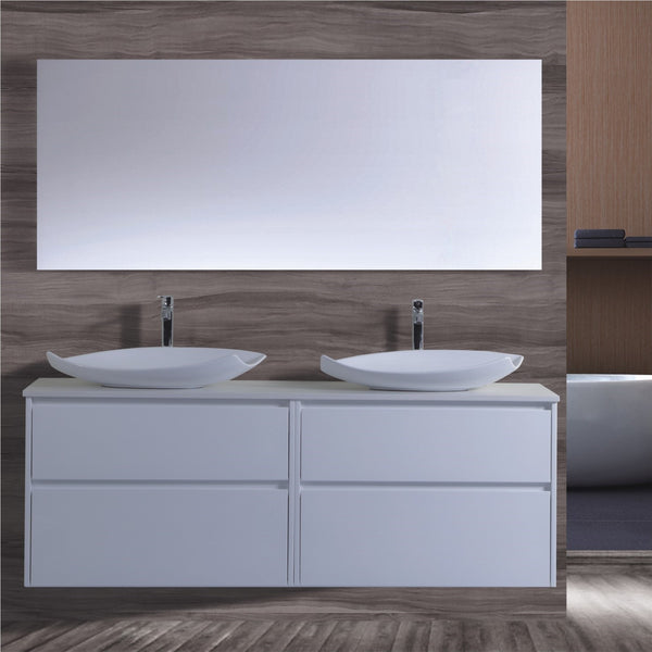 Caliber Series VMF1800DW WHT Wall Hung,Vanities,1800mm,thebathroomoutlet