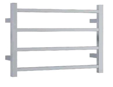 Thermorail - SS40M Straight Square Ladder Heated Towel Rail