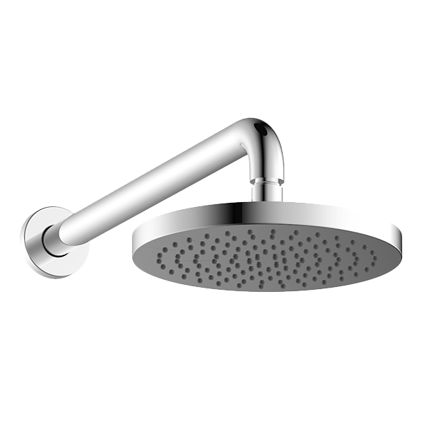 ABS 200MM ROUND SHOWER HEAD WITH 350MM ARM