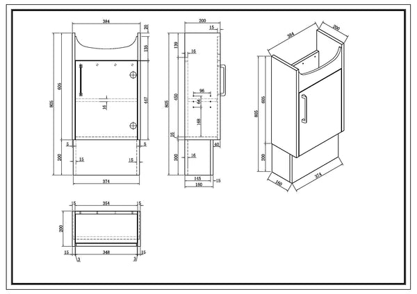Powder Room RMA400,Vanities,Powder Room,thebathroomoutlet