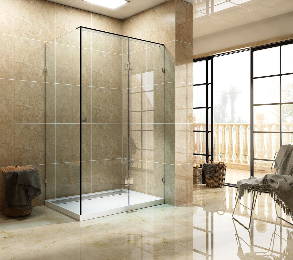 SFF Series Frameless Shower Screen 1200mm SFF1200,Showers,Shower Screen,thebathroomoutlet