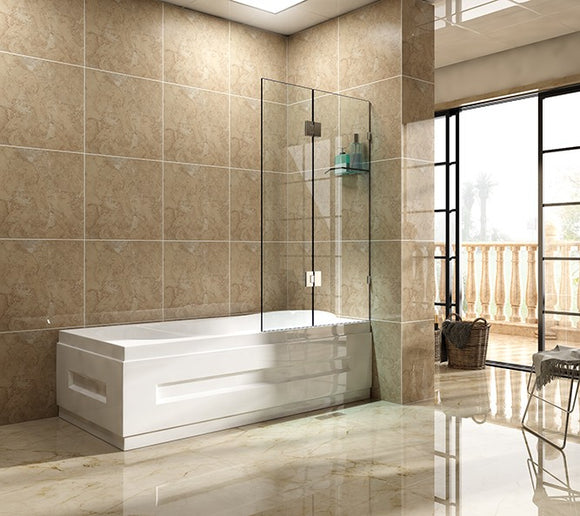 SFB Series Frameless Over-bathtub Screen 900mm SFB900,Showers,Shower Screen,thebathroomoutlet