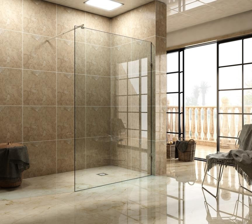 SF Series Frameless Walk-in Shower 900mm SF900A