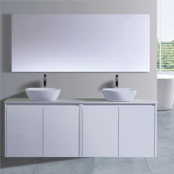 Caliber Series VMF1800DR WHT Wall Hung,Vanities,1800mm,thebathroomoutlet
