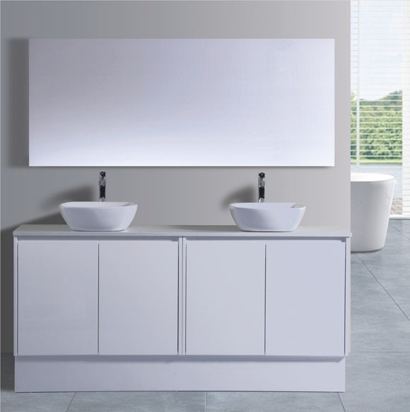 Caliber Series VMF1800DR WHT Free Standing,Vanities,1800mm,thebathroomoutlet