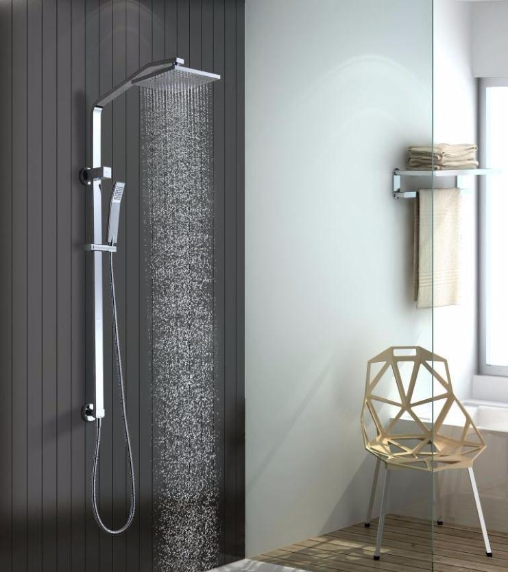 Thames 2 in 1 Shower Set with Rail – thebathroomoutlet