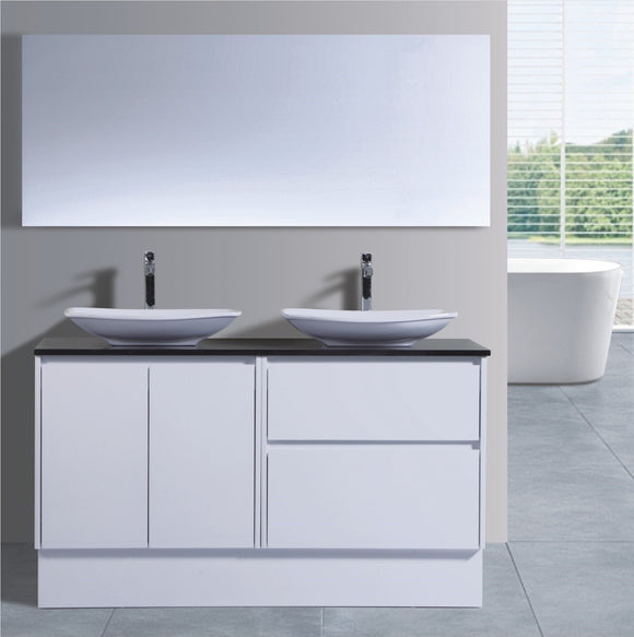 Caliber Series VMF1500DRW WHT Free Standing,Vanities,1500mm,thebathroomoutlet