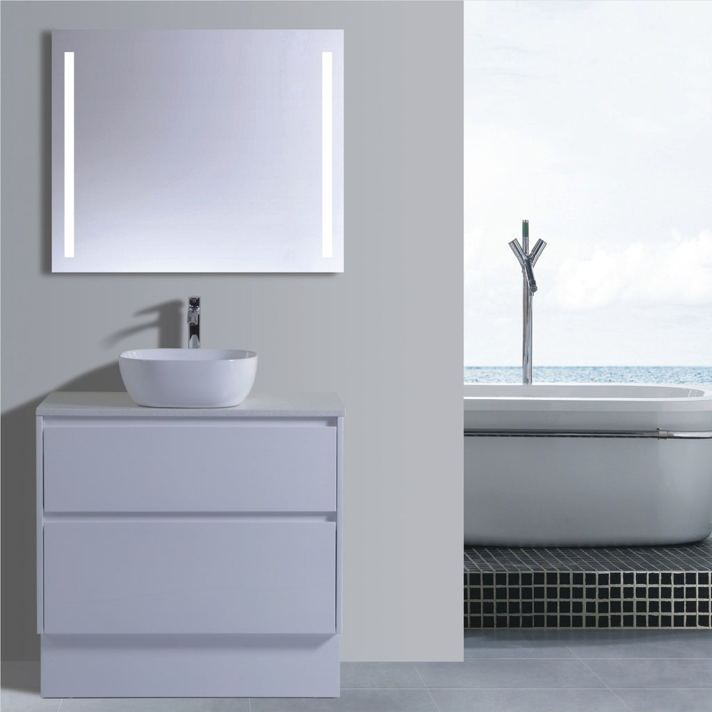 Caliber Series VMF900DW WHT Free Standing,Vanities,900mm,thebathroomoutlet