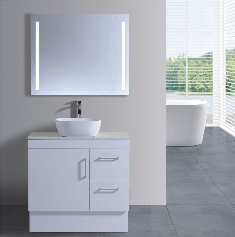 Lush Series VGN900 WHT Free Standing,Vanities,900mm,thebathroomoutlet
