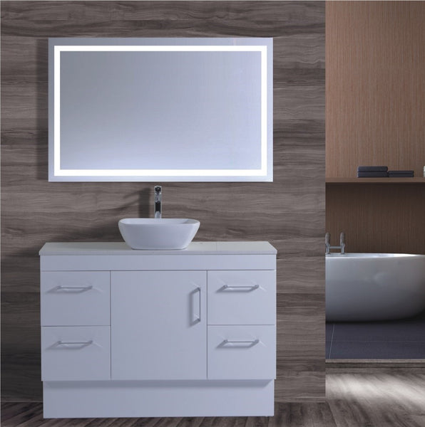 Lush Series VGN1200 WHT Free Standing,Vanities,1200mm,thebathroomoutlet